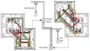3 way light switching new cable colours with wiring a double light combination single pole 3 way switch at 3 Way Double Switch Wiring Diagram