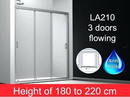 amazing 3 panel sliding shower door sliding shower door 3 panels cm height of to cm amazing 3 panel sliding shower door