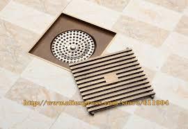 floor drain grate square 12 x 12cm square bathroom shower drain floor drainer trap waste grate