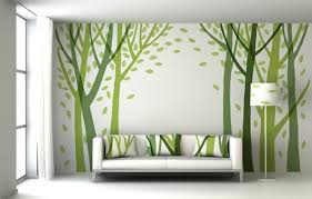Small Picture Creative and Cheap Wall Decor Ideas for Living Room green Wall
