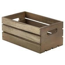 dark rustic wooden crate box shelves