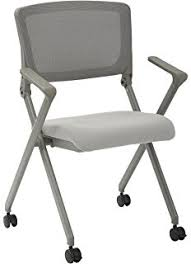 folding office chair. office star breathable flexible mesh back folding nesting chair with padded fabric seat and casters