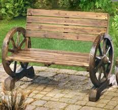 swing chair new wooden wagon wheel