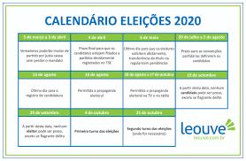 Eleições 2020: Confira o calendário oficial para o pleito municipal –  Jornal Celeiro