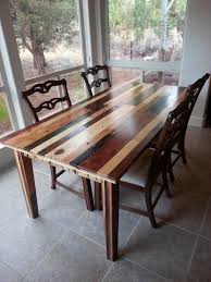Wine Barrel Kitchen Table Dining Room Table I Made From Pallet Wood Pallet Wood Projects