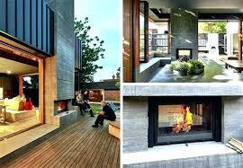 indoor outdoor fireplace indoor outdoor fireplace double sided fireplace indoor outdoor two sided fireplace photo 4