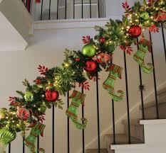 Christmas decorations and christmas decorating ideas for your staircase  banister is as easy as it can