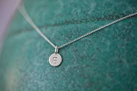 necklaces astounding initial necklace sterling silver