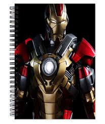 iron man office. VenTechno Iron Man Wire Bound Ruled Paper Sheets Personal And Office Stationary Notebooks Diary
