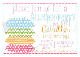 Free Printable Slumber Party Invitations Girls Invitation