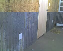 interior corrugated metal garage walls
