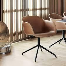 Armchair Upholstery Muuto Muuto Fiber Armchair Swivel Base Full Upholstery