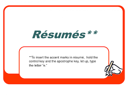 resume accent marks free resume templates