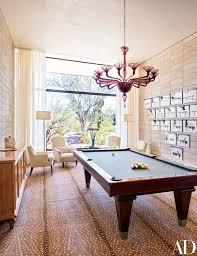 antelope rug pool table modern