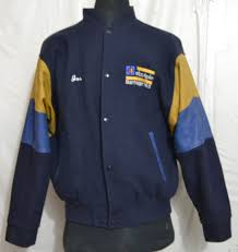 murray randolph men s varsity jacket with leather sleeves made in canada o k 59 1 6 kg