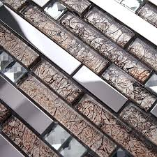stainless steel swimming pool floor tile blend with mosaic glass mirror chip tiles home decoration antique effect out of