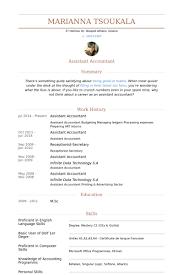 Assistant Accountant Cv Keni Com Resume Examples Downloadable Resume