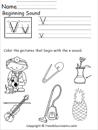 See more ideas about phonics worksheets, kindergarten phonics worksheets, phonics. Free Letter V Phonics Worksheets Free4classrooms For Kindergarten Beginning Sounds Worksheet Jaimie Bleck