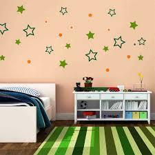 simple kids bedroom. minimalist kids bedroom decorating with simple diy wall decal