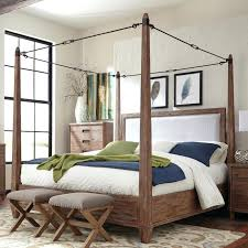 Bamboo Canopy Bed Furniture Four Poster Made To Order Colonial ...