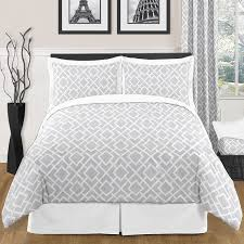 sweet jojo designs grey white diamond 3 piece full queen pertaining to comforter sets decorations 4