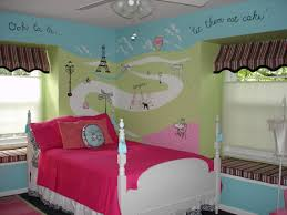 L   Teenage Bedroom Designs With Cool Kids S Blue And Paris Eiffel Wall Art  Decal Plus White Canopy Bed Teen Room Themes