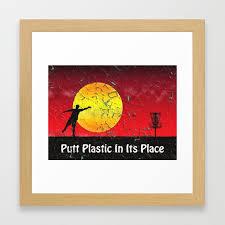 vintage disc golf billboard framed art print by perkinsdesigns society6