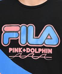 fila x pink dolphin. fila x pink dolphin heritage black t-shirt fila o