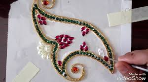 Kundan Rangoli Designs Small New And Latest Flower Design In Kundan Rangoli Kundan Rangoli For Diwali And Navratri