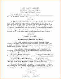 Business Agreement Sample Contract Agreement Between Two Parties Sample Awesome Business 14