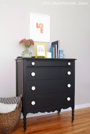 makeover furniture ideas. furniture reveal pitch black milk paint dresser makeover ideas