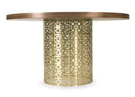 view in gallery brass and wooden dining table brass furniture