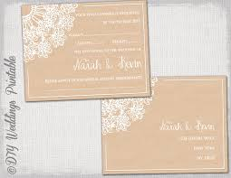 wedding rsvp postcards templates rustic wedding rsvp postcard template diy lace doily