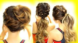 Quick Hairstyles For Braids 3 Cutest Workout Hairstyles Braid School Hairstyles For Long