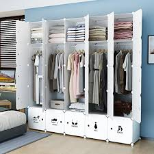 sturdy hanging closet organizer. Simple Closet KOUSI Portable Closet Clothes Wardrobe Bedroom Armoire Storage Organizer  With Doors Capacious U0026 Sturdy 10 Cubes5 Hanging Sections White Inside Sturdy