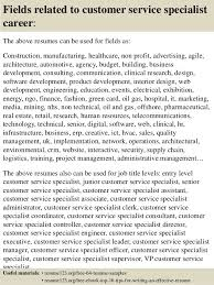 Resume For Customer Service Specialist Resume Examples