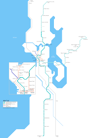 Downtown Seattle Light Rail Map Urbanrail Net Usa Washington Seattle Light Rail