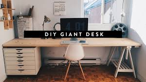 long desks for home office. DIY GIANT HOME OFFICE DESK Long Desks For Home Office YouTube