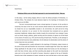 religious ethics are not the best approach to environmental ethics document image preview
