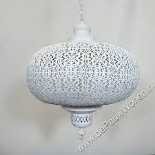 Oriëntaalse Filigrain Hanglamp Wit Medium