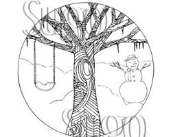 Small Picture Winter coloring page Etsy