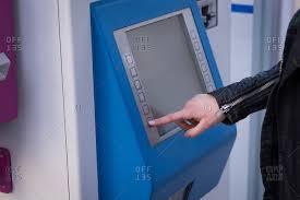 Woman Vending Machine Impressive Mid Section Of Woman Using Ticket Vending Machine At Station Stock