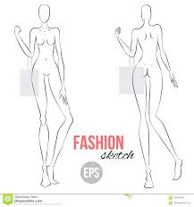 Body Template For Designing Clothes Template Figure Template For Fashion Illustration Vector Outline