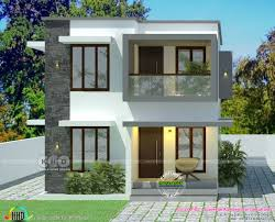 Simple Square House Design Simple Low Cost House In 2 Cents Of Land Area Kerala Home