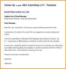 Resume Follow Up Letter Template Plus Resume Follow Up Email Sample