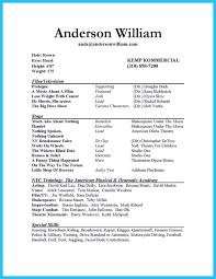 100 Resume For Actors With No Experience Beginner Actor Resume