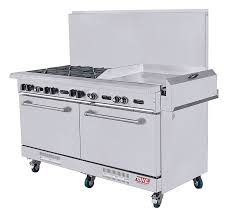 Commercial gas range Griddle Double Oven Commercial Gas Range Mke Industries Commercial Gas Range Mke Industries Restaurant Equipment