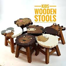 stools wooden stools for kid kids bedroom hand carved animal shaped stool dog ireland