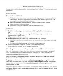 Sample Technical Writer Job Description 9 Examples In Pdf
