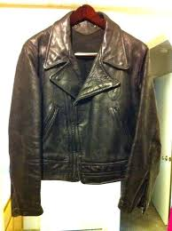 1950s leather jacket star glove and lee retro perfecto biker